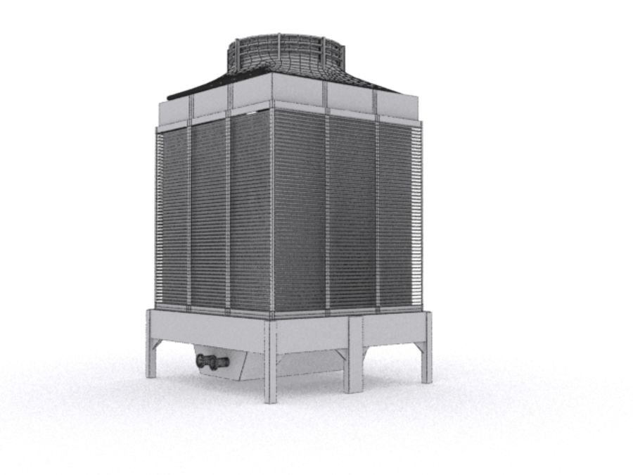 Soğutma kulesi royalty-free 3d model - Preview no. 6