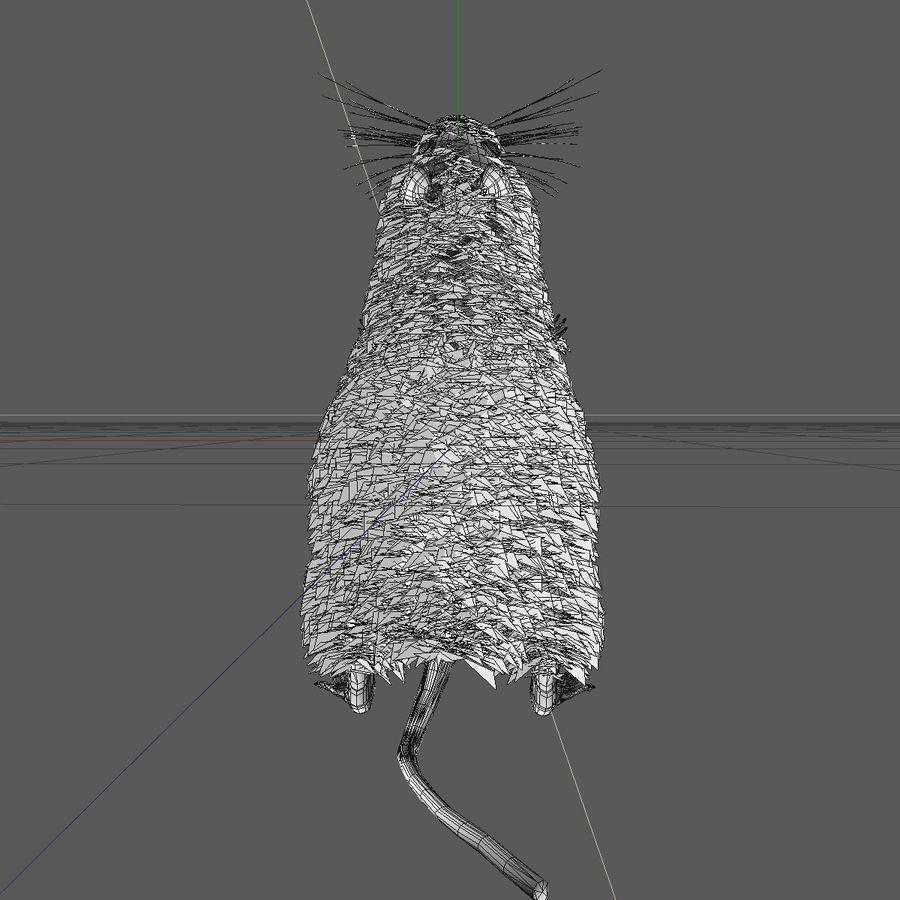 Крыса / мышь черная поза 1 royalty-free 3d model - Preview no. 9