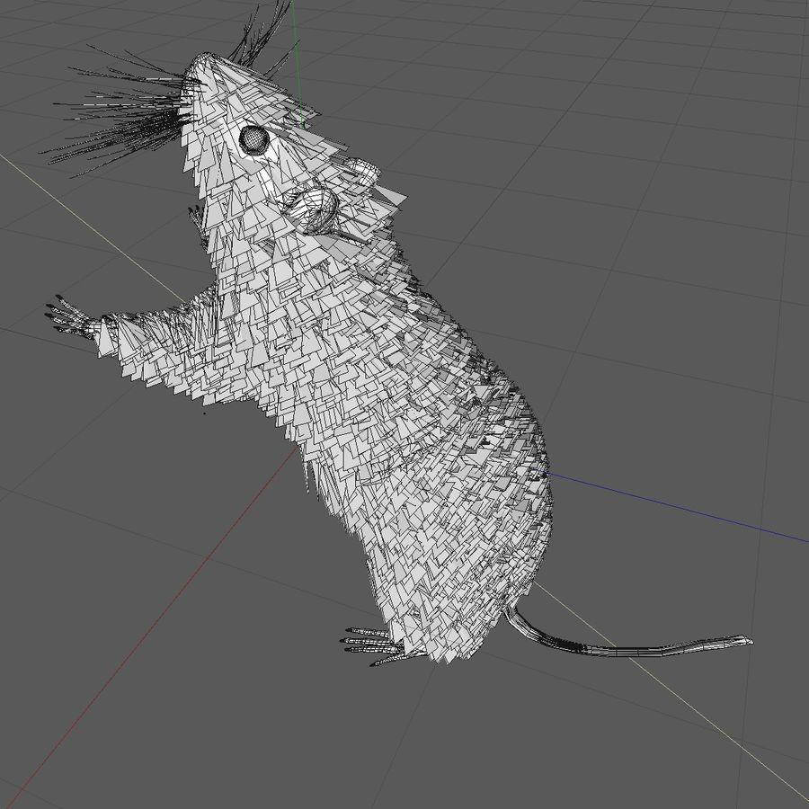 Крыса / мышь черная поза 1 royalty-free 3d model - Preview no. 10