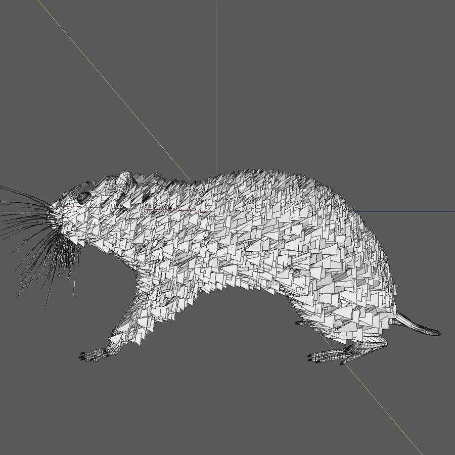 쥐 / 마우스 블랙 스탠딩 포즈 2 royalty-free 3d model - Preview no. 7