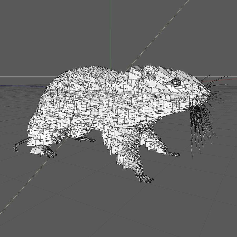 쥐 / 마우스 블랙 스탠딩 포즈 2 royalty-free 3d model - Preview no. 6