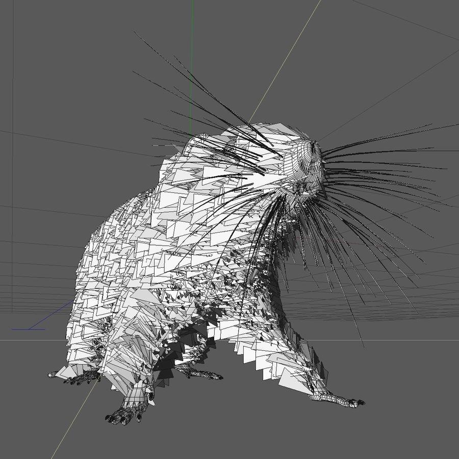 쥐 / 마우스 블랙 스탠딩 포즈 2 royalty-free 3d model - Preview no. 9