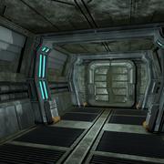 sci fi corridor 02 3d model
