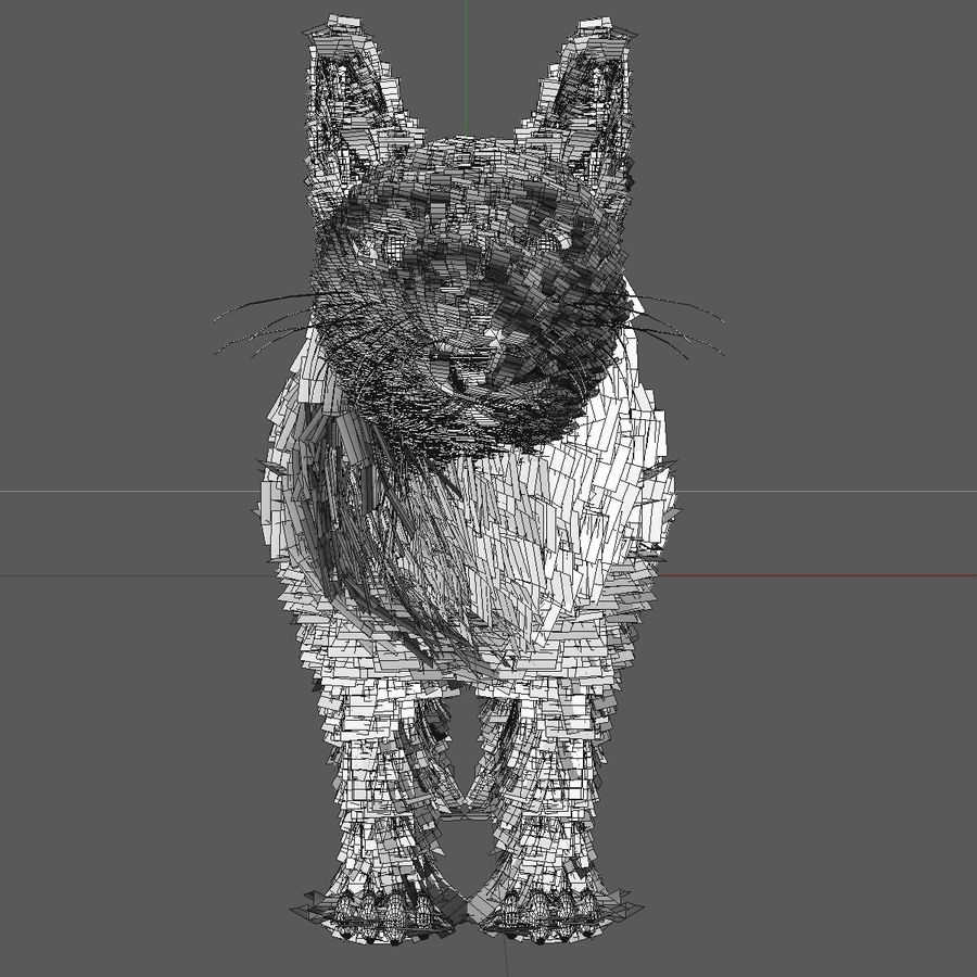 Schwarze Katze mit PELZ royalty-free 3d model - Preview no. 12