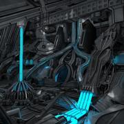 Sci-Fi Интерьер 3d model
