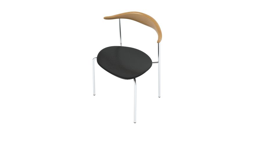 Cadeira CH88 de Hans Wegner royalty-free 3d model - Preview no. 3