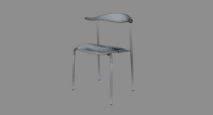 Cadeira CH88 de Hans Wegner royalty-free 3d model - Preview no. 5
