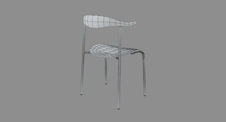Cadeira CH88 de Hans Wegner royalty-free 3d model - Preview no. 8