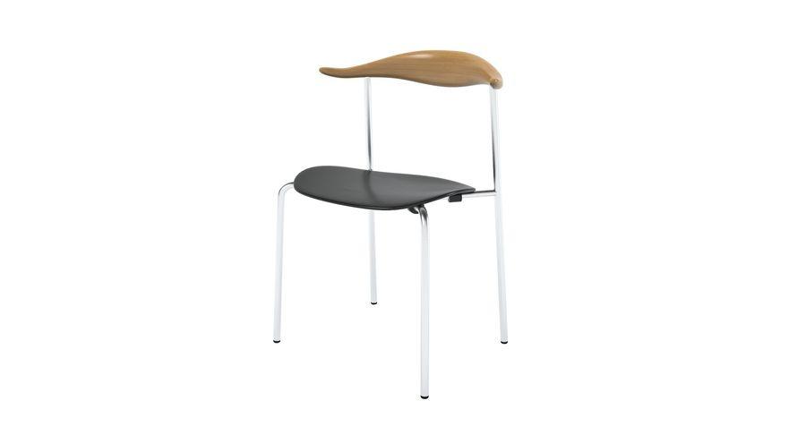 Cadeira CH88 de Hans Wegner royalty-free 3d model - Preview no. 2