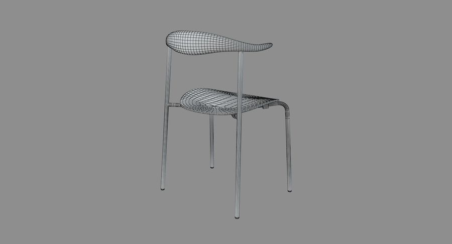 Cadeira CH88 de Hans Wegner royalty-free 3d model - Preview no. 6