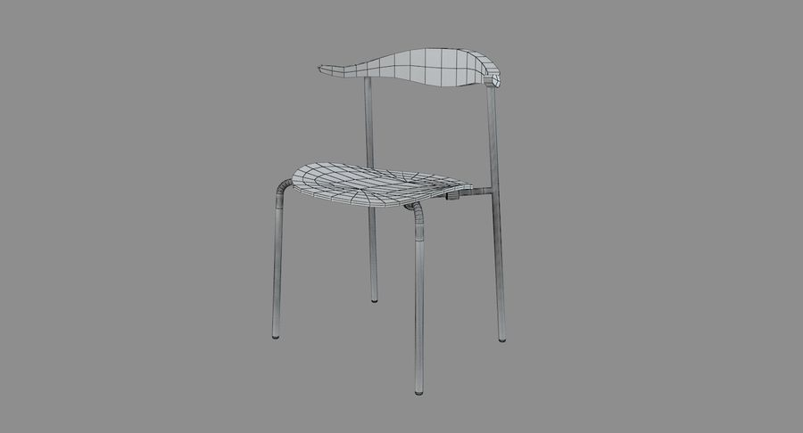 Cadeira CH88 de Hans Wegner royalty-free 3d model - Preview no. 7