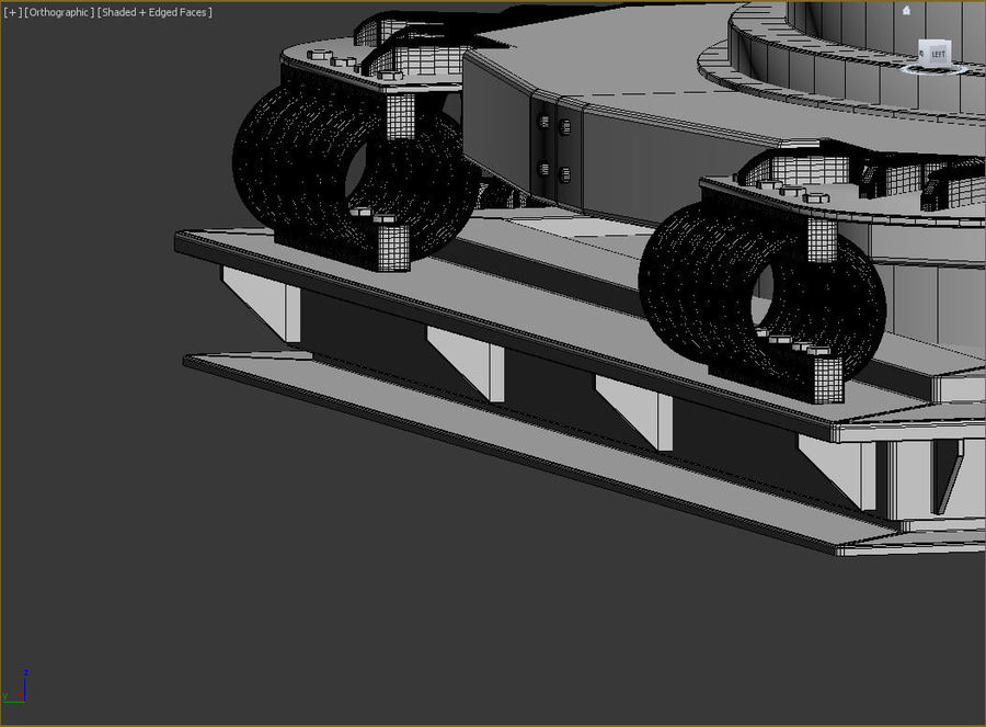 Airframe Missile Launcher royalty-free 3d model - Preview no. 9