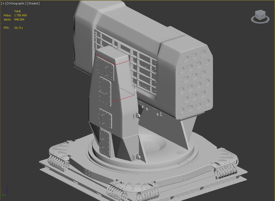 Airframe Missile Launcher royalty-free 3d model - Preview no. 2