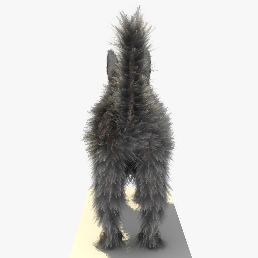 Gatto grigio con PELLICCIA royalty-free 3d model - Preview no. 7