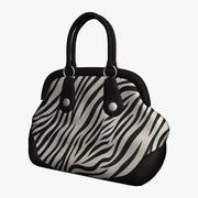 Zebra gestreifte Tasche 3d model