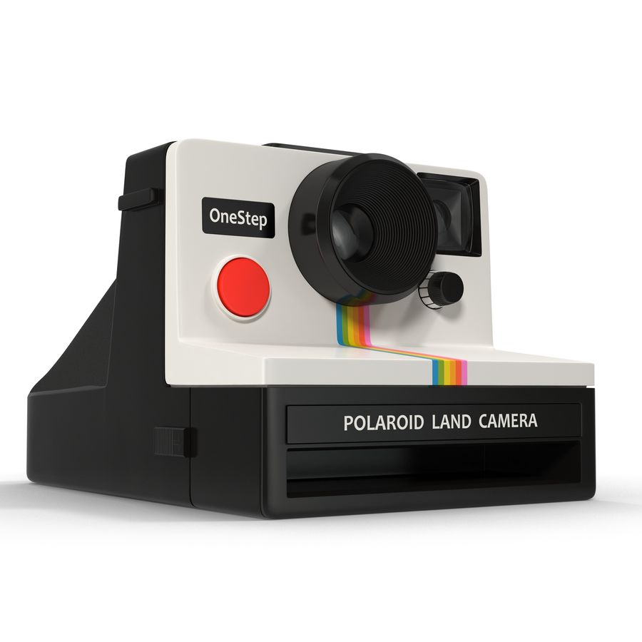 Polaroid Film Camera royalty-free 3d model - Preview no. 2