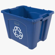 Recycling Bin 2 3d model