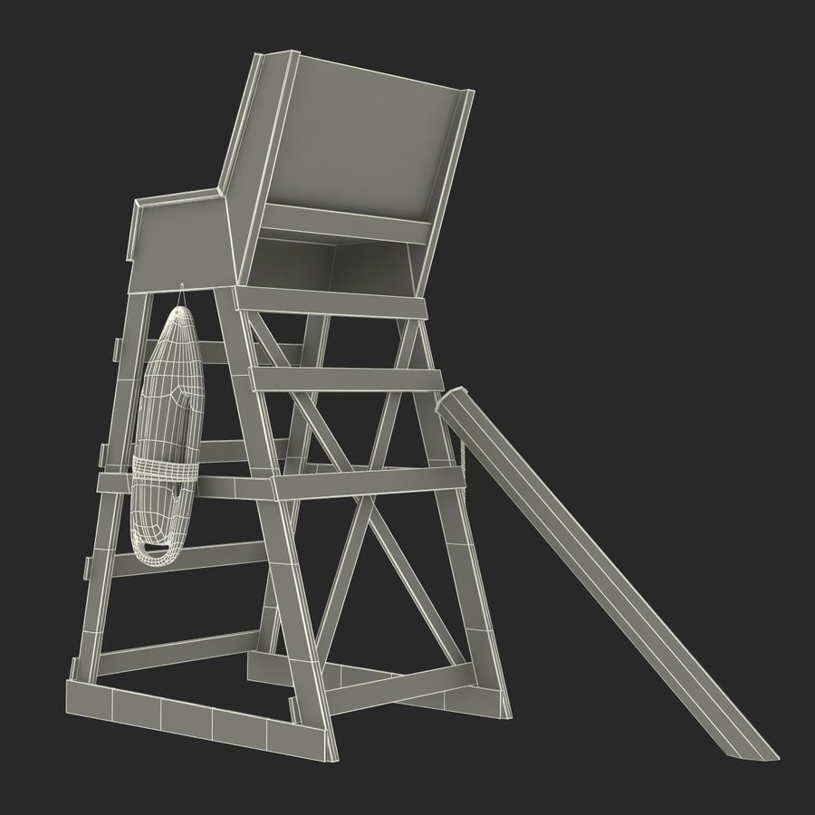 Silla salvavidas royalty-free modelo 3d - Preview no. 25