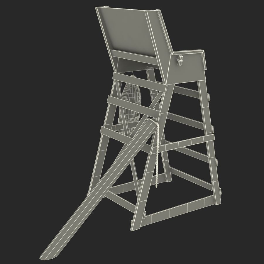 Silla salvavidas royalty-free modelo 3d - Preview no. 26