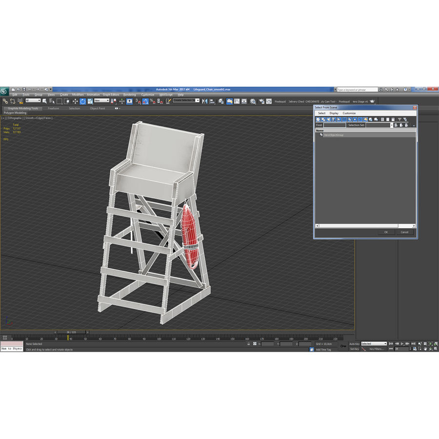 Silla salvavidas royalty-free modelo 3d - Preview no. 23