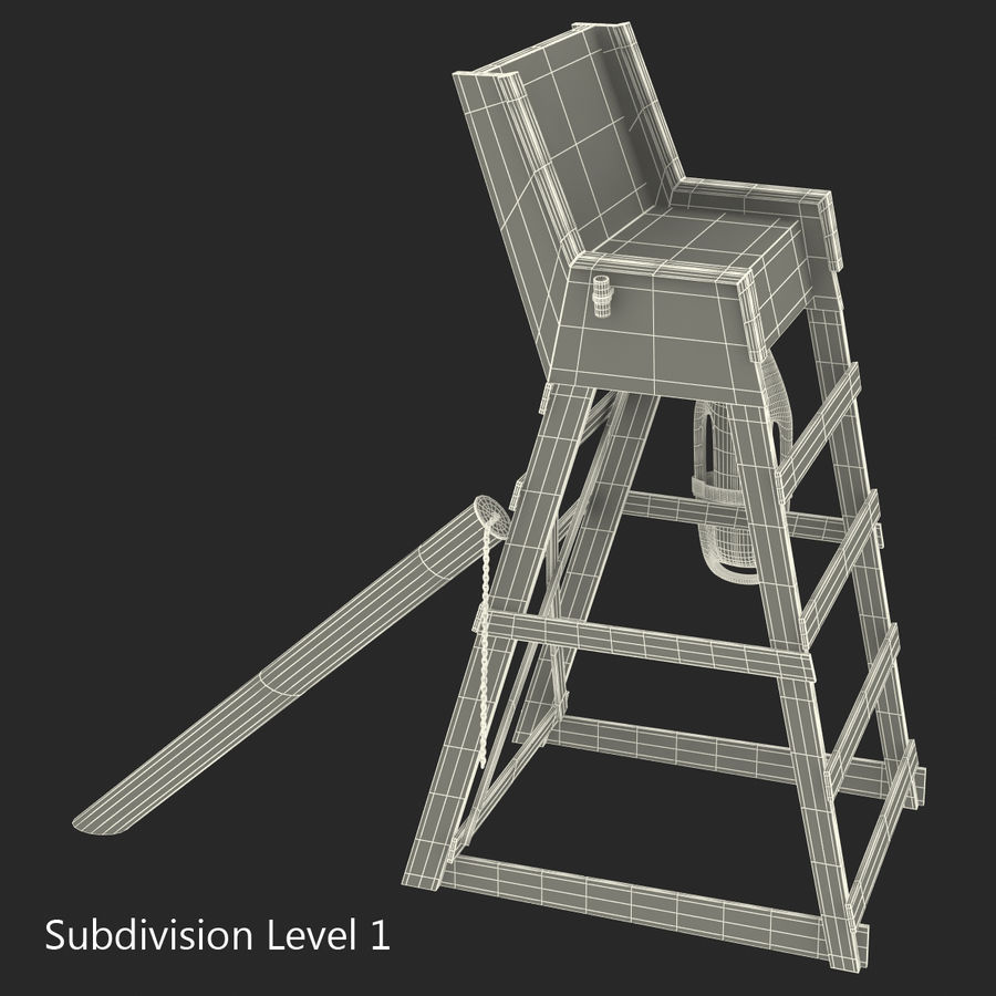 Silla salvavidas royalty-free modelo 3d - Preview no. 17