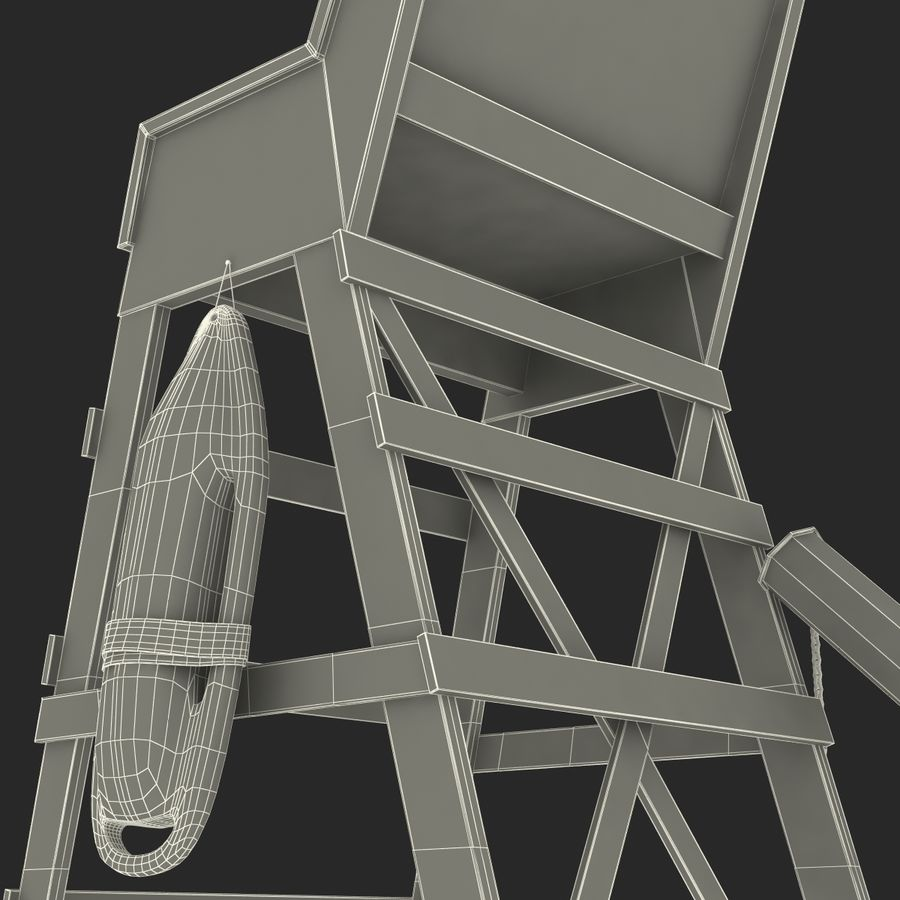 Silla salvavidas royalty-free modelo 3d - Preview no. 33