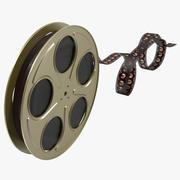 Bobina de filme de vídeo 6 3d model