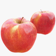 Pomme rouge grosse / basse poly balayé 3d model