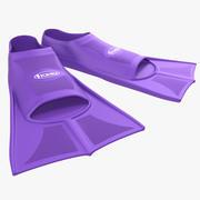 Yüzgeçleri Mor yüzmek 3d model