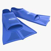 Mavi Yüzme Yüzgeçleri 3d model