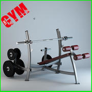 Olympic Decline Press with Weight Storage 3d model