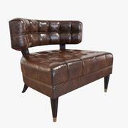 Armchair Jean De Merry Tribeca deep tufted armchair 3d model