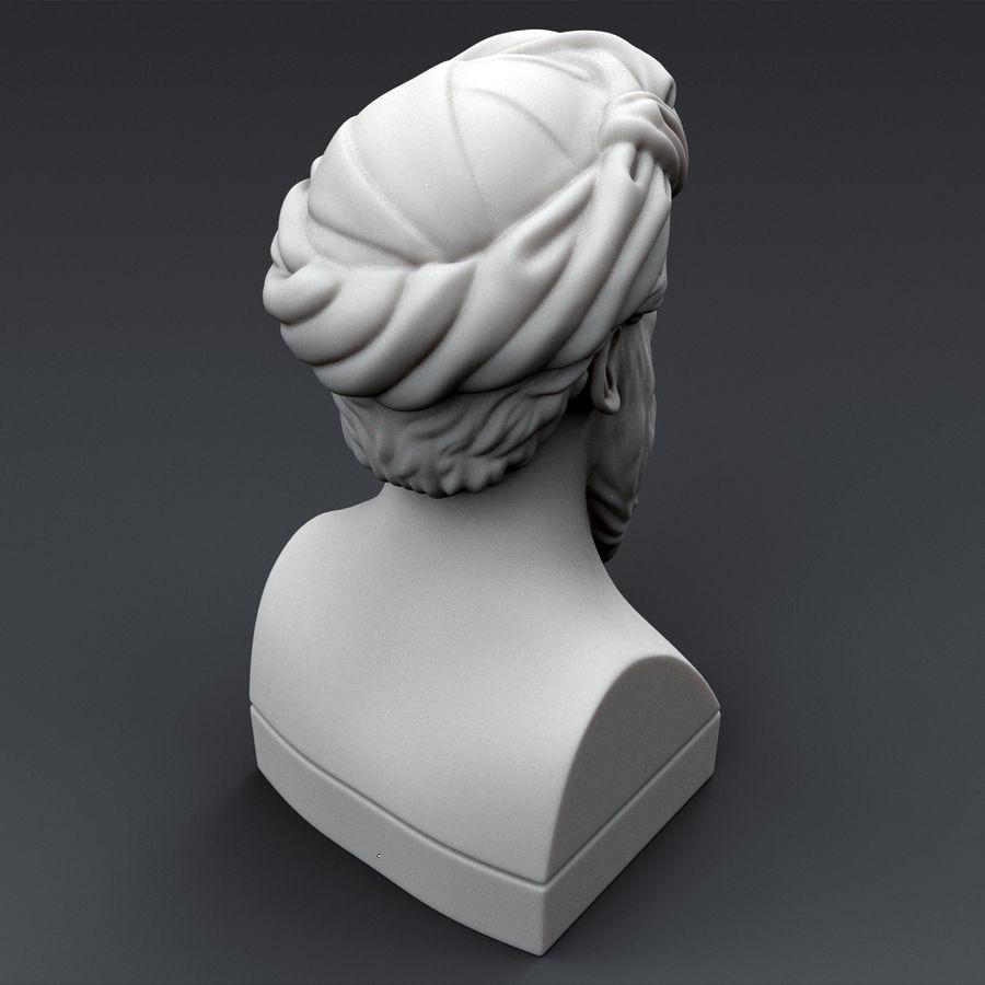 Busto di Pitagora royalty-free 3d model - Preview no. 4