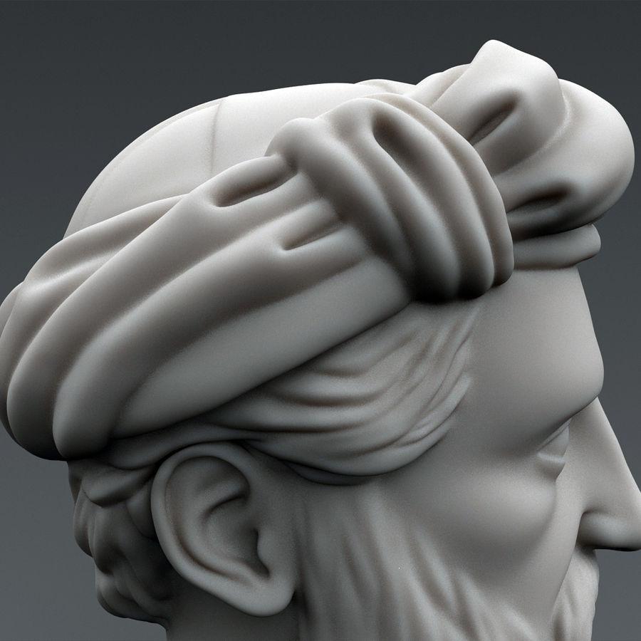 Busto di Pitagora royalty-free 3d model - Preview no. 7