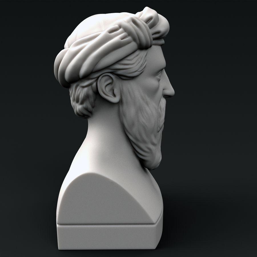 Busto di Pitagora royalty-free 3d model - Preview no. 3
