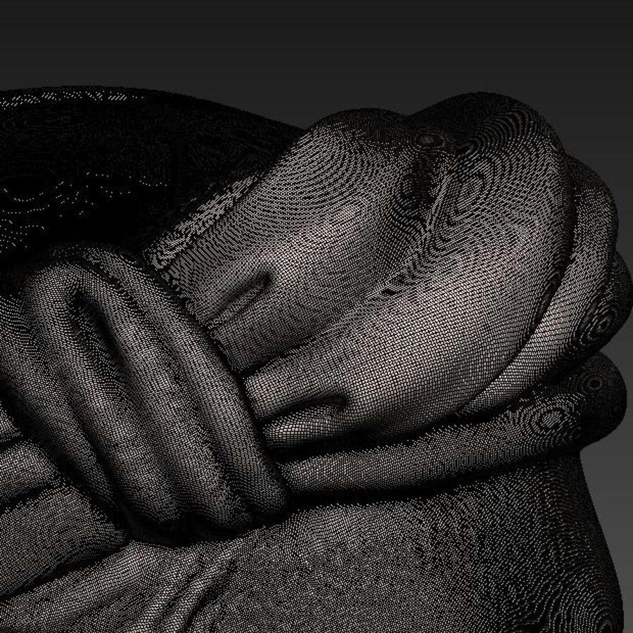 Busto di Pitagora royalty-free 3d model - Preview no. 9