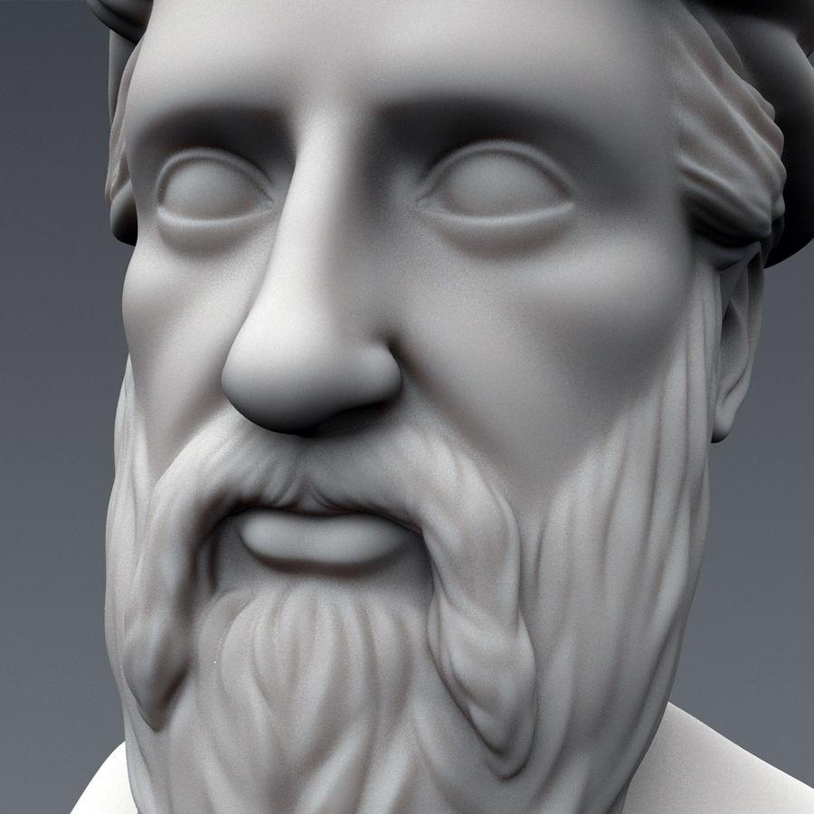 Busto di Pitagora royalty-free 3d model - Preview no. 6