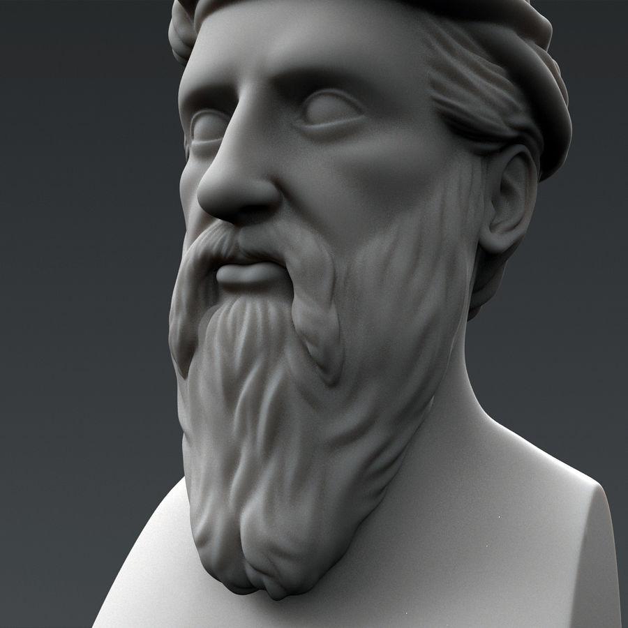 Busto di Pitagora royalty-free 3d model - Preview no. 5