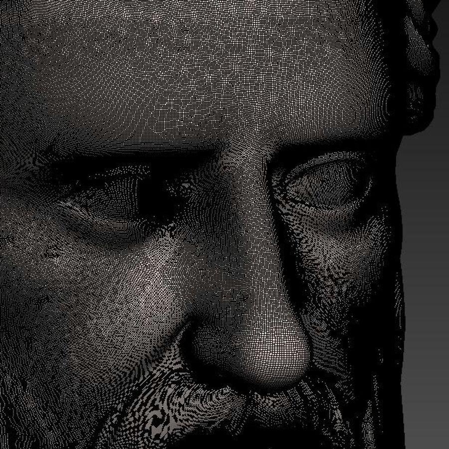 Busto di Pitagora royalty-free 3d model - Preview no. 8