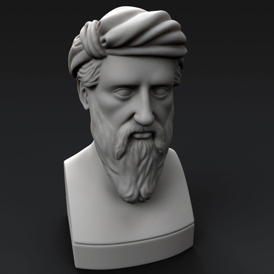 Busto di Pitagora royalty-free 3d model - Preview no. 2