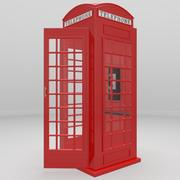 Red Telephone Booth 3d model