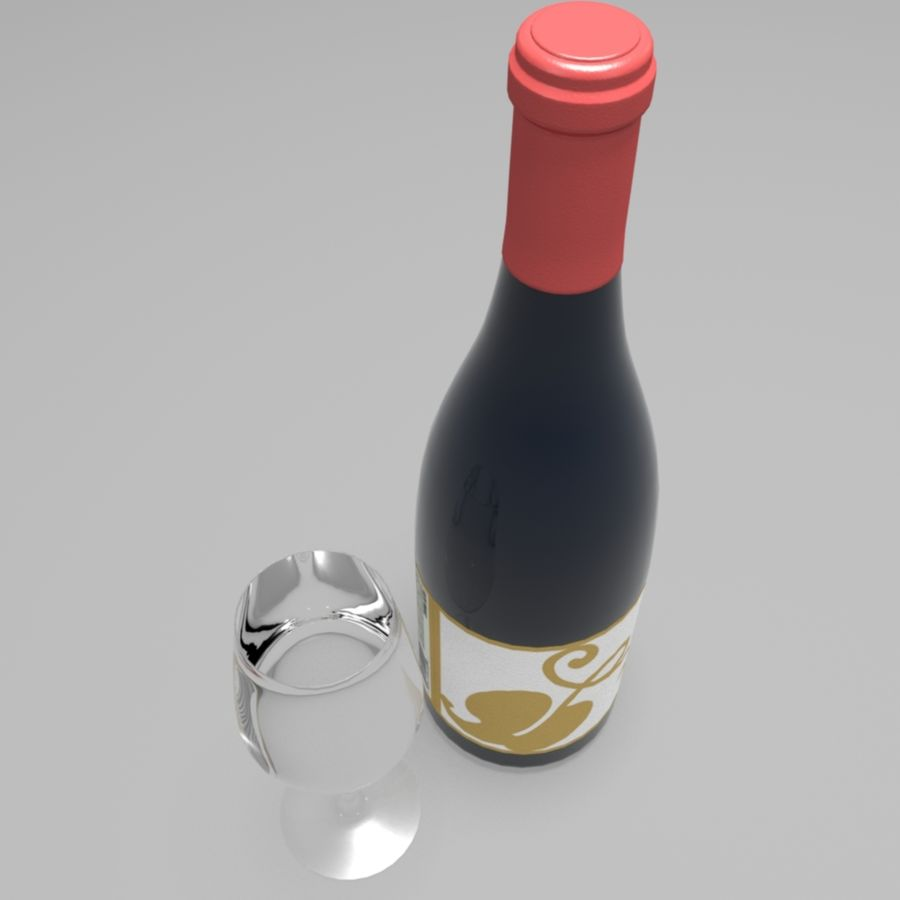 Wine Bottle royalty-free 3d model - Preview no. 5