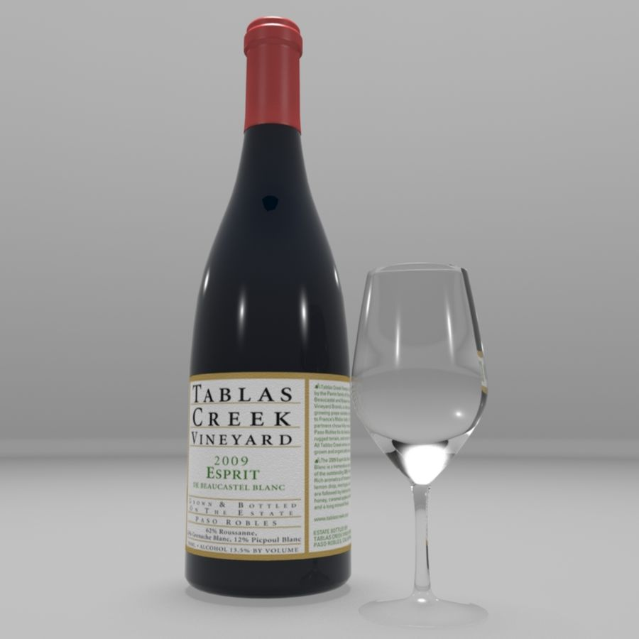 Wine Bottle royalty-free 3d model - Preview no. 2