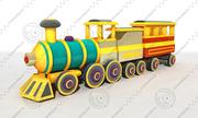 Cartoon Train 2 3d model