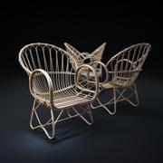 Ротанг-Lounge-стул 3d model