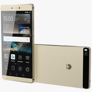 Huawei P8 guld 3d model