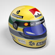 Casque Senna 1988 3d model