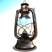 Lampe à huile (ancienne) 3d model