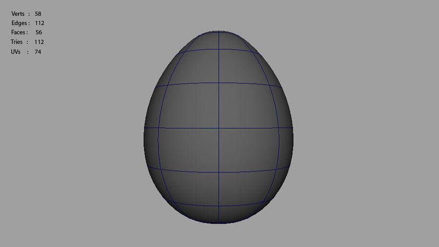 Gallina e ronzio uovo uovo royalty-free 3d model - Preview no. 6