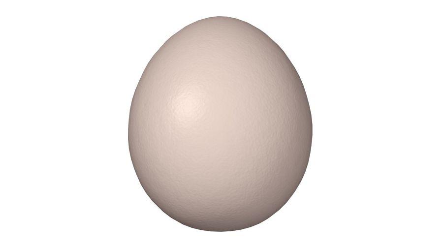 Gallina e ronzio uovo uovo royalty-free 3d model - Preview no. 1